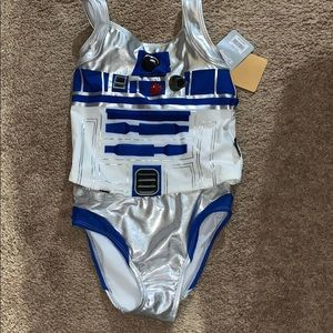 Girls Star Wars swimsuit NWT
